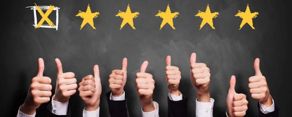 Einstimmige 5-Sterne-Bewertung